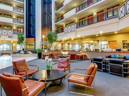 Lobby Seating in Hotel Atrium