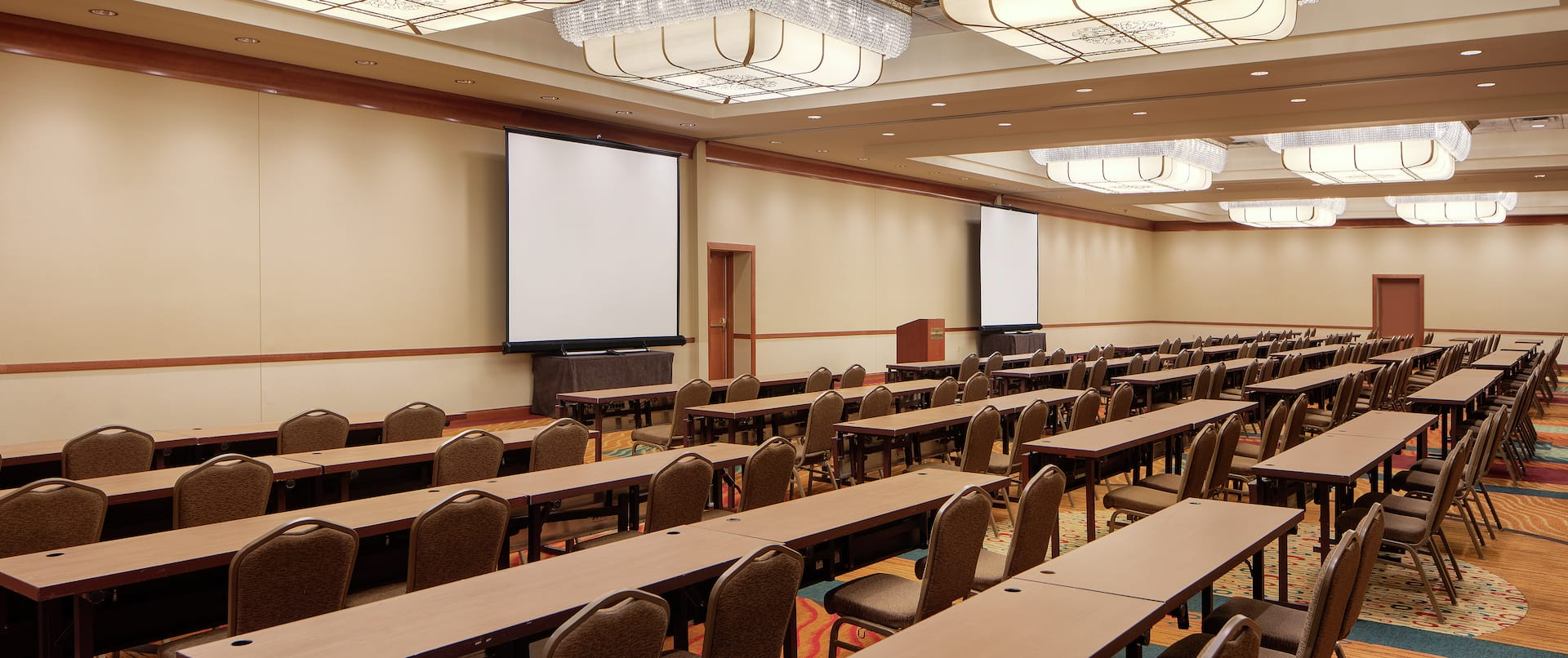 Classroom Style Set up Ballroom