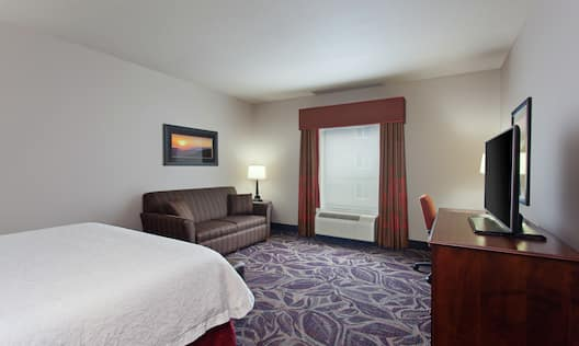 Guest Room with King Bed, Sofa Bed, Work Desk, and TV