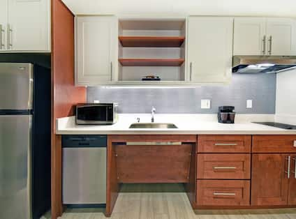 One King, One Queen, Two Bedroom, Accessible Suite Kitchen