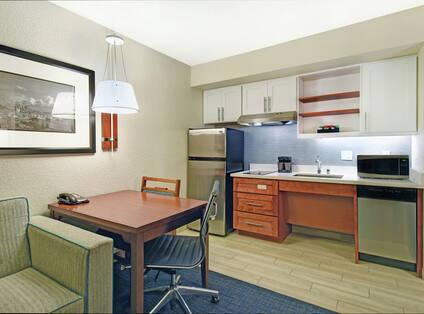 Two Queen Bed Accessible Kitchen and Living Space