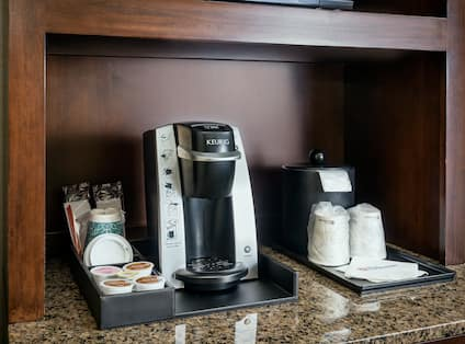 Detailed View of Keurig Coffee Station