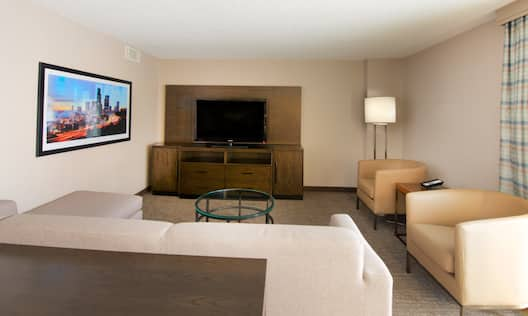 Presidential Suite Living area with Sofa and HDTV