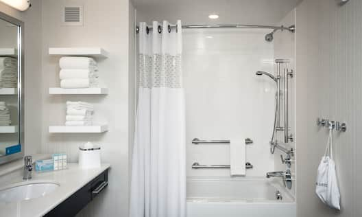 Accessible Tub with Hand Rails