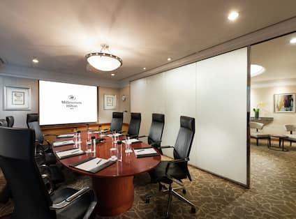 Business Center with Seating for Eight Guests