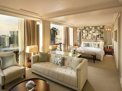 Suite Bedroom and Lounge Area