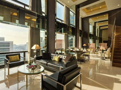Large Living Area with City View