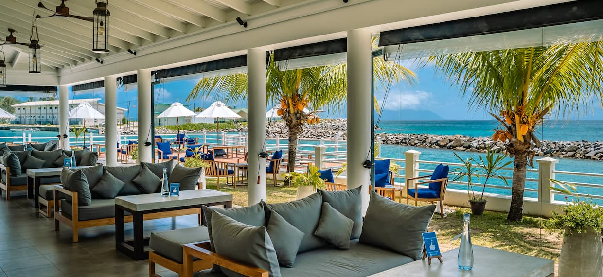 Labriz Lounge Area Overlooking the Water