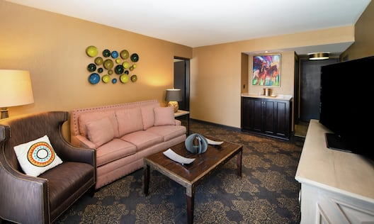 Suite with Lounge Area and Television