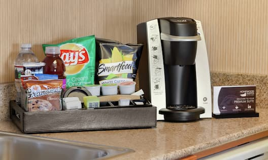 Premium Snack Tray and Coffee Maker