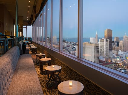 View of CityScape from Large Lounge Windows