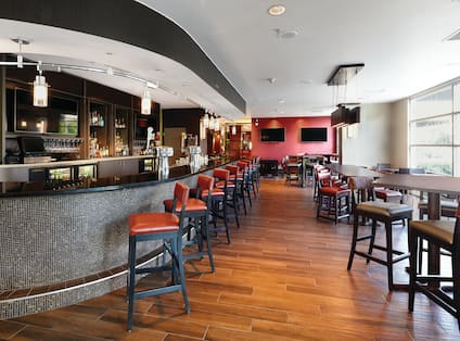 Bar and seating in a restaurant