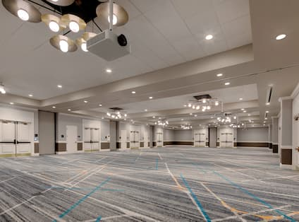 empty ballroom view