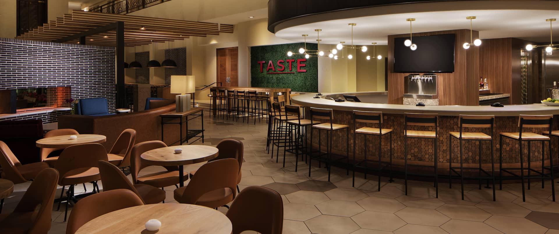Taste Restaurant Seating Area