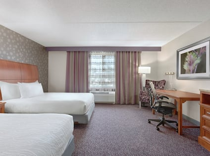 Accessible Double Guest Room with Work Desk and Television