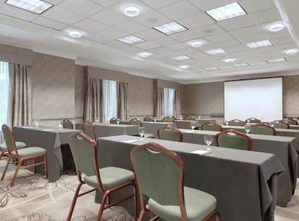 Meeting Room with Classroom Setup