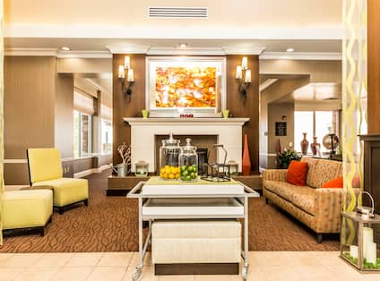 Lobby Fireplace and Sitting Area