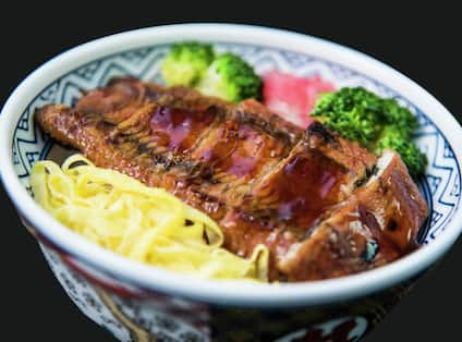 Grilled  eel Donburi at Grand Café