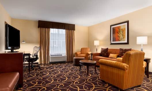 1 King Bedroom Suite, Living Area