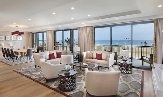 Presidential Suite Lounge Area with Sofas, Armchairs and Coffee Table