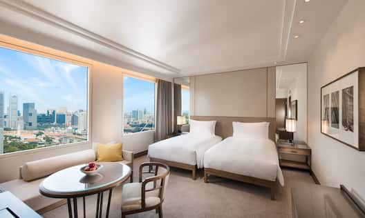 Twin Bedroom With City View