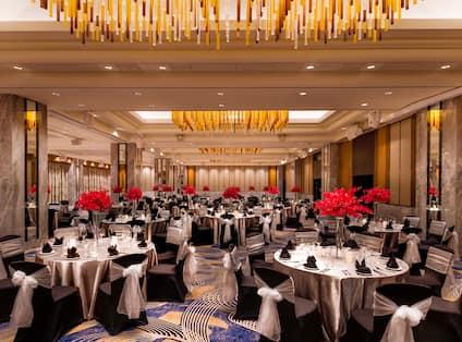 Grand Ballroom Setup with Round Tables