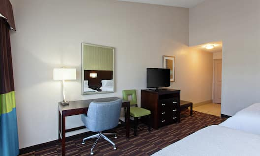 Guest Room with Work Desk Area and Two Queen Beds