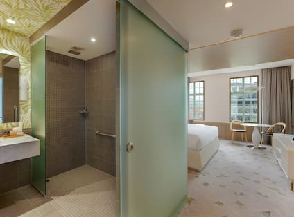 View of Guest Shower and Bedroom