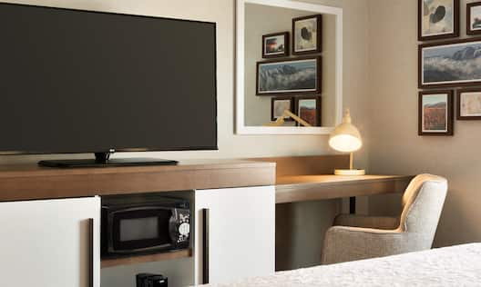 Guestroom with HDTV and Work Desk