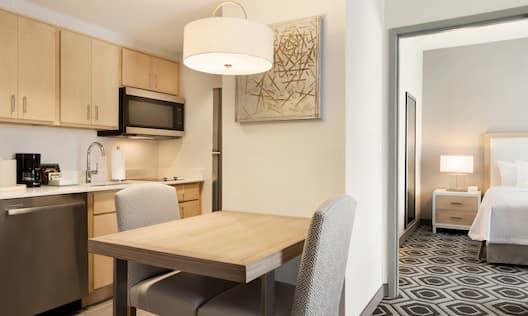 One Bedroom King Suite Kitchen Area