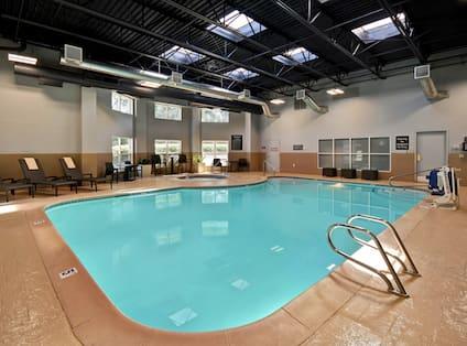Indoor swimming pool area