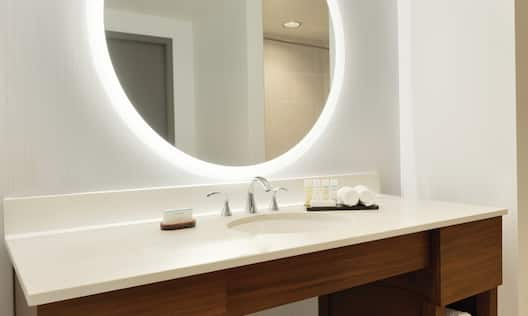 Bathroom Vanity and Mirror with Light