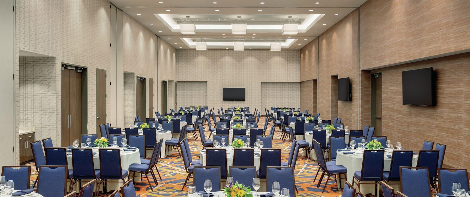 Ballroom Set up for Reception