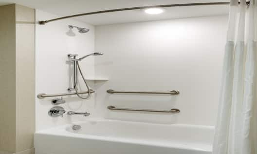 Accessible Bathroom Tub with Handrails