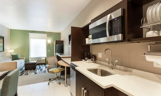 Suite Living Room and Kitchen Area