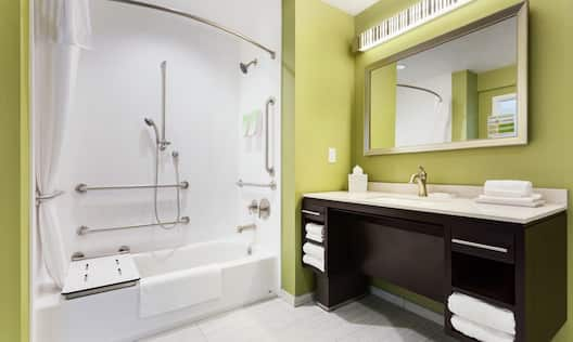 Accessible Tub with Shower Seat