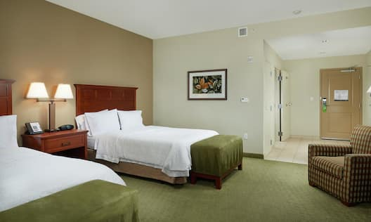 Accessible Double Queen Bed Guestroom Suite