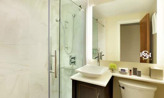 Standard Guest Bathroom with Walk-in Shower