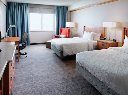 Guest Suite with Two Queen Beds, Work Desk and Television