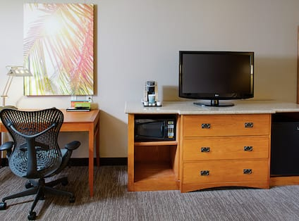 Guest Room Work Desk and Television