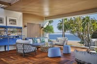 Terrace with comfortable seating