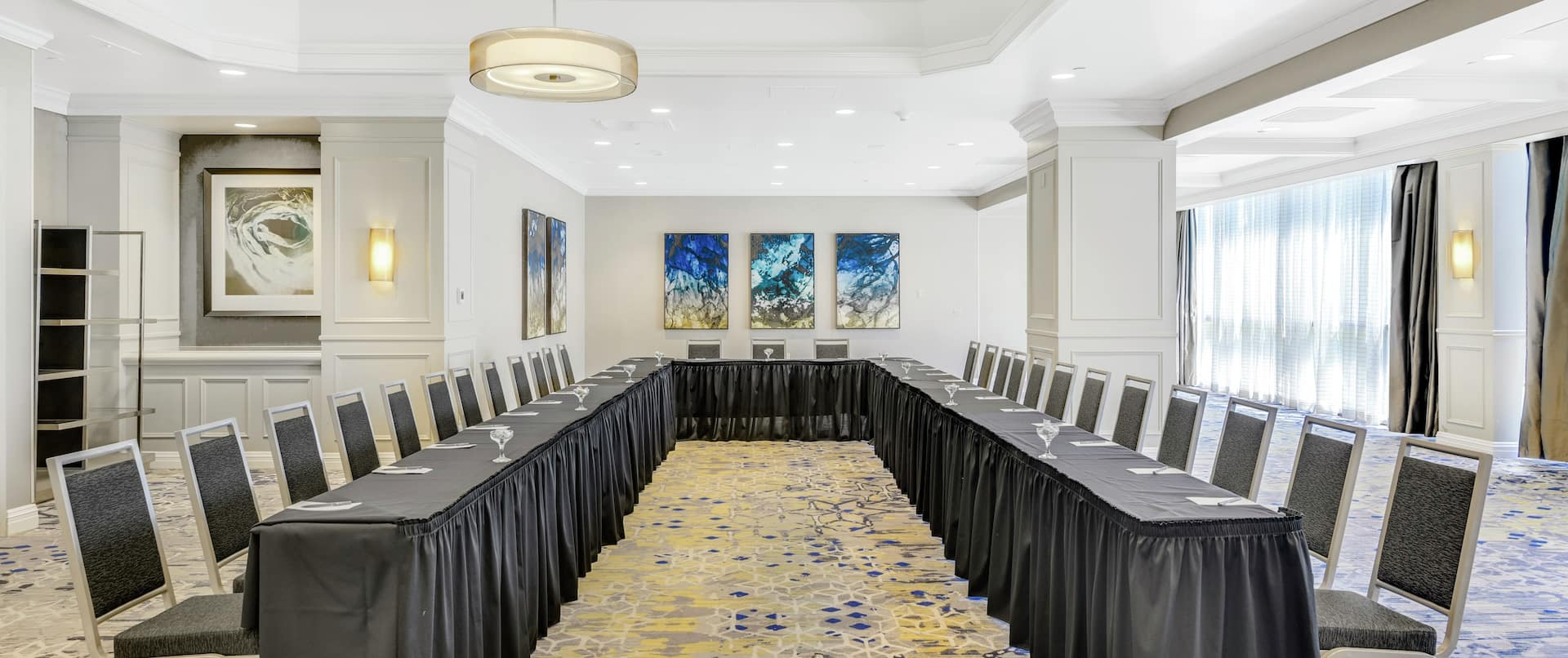 Meeting Room with U-Shaped Table