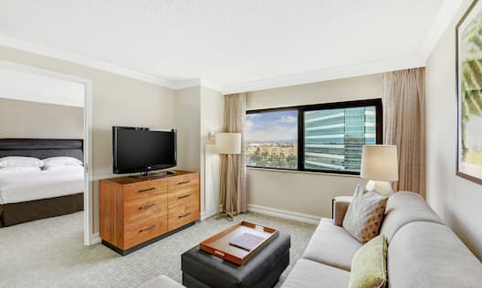 Two Room Suite with King Bed and Living Area