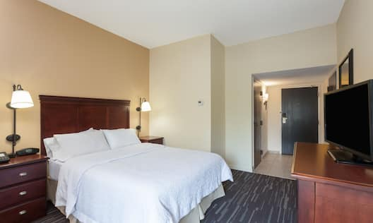 Accessible Guest Room with Queen Bed and Television