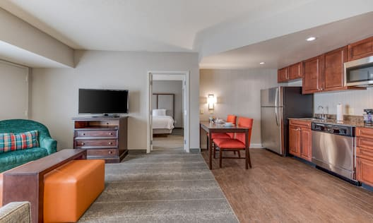 Overview of Suite with Spacious Kitchen Area