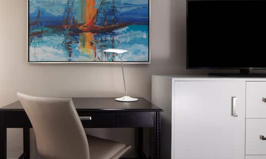 Guestroom TV and Work Desk