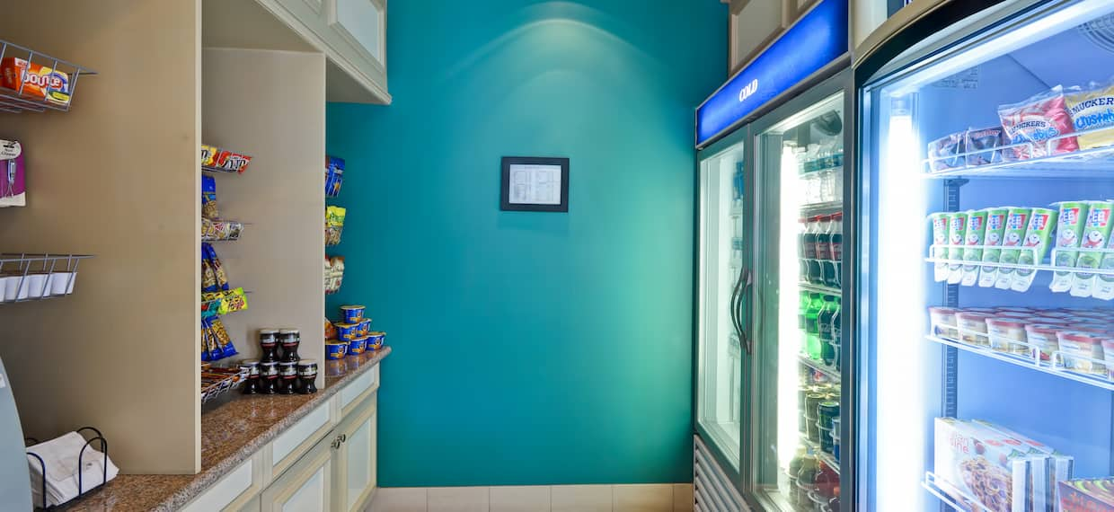 Pavilion Pantry With Snacks and Convenience Items for Guest Purchase