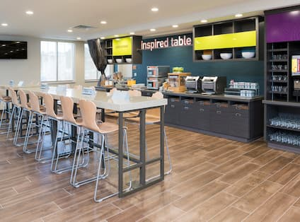 Inspired Table Breakfast Serving and Seating Area