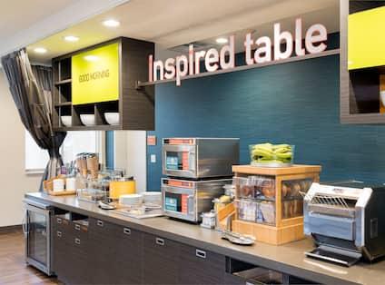 Inspired Table Breakfast Buffet Serving Area