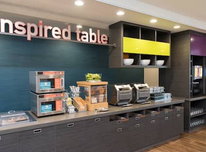 Inspired Table Breakfast Serving Area